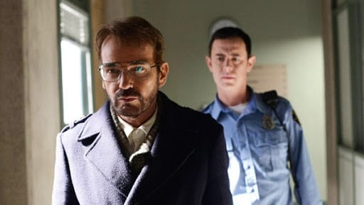 Grimly leads Lorne Malvo under arrest