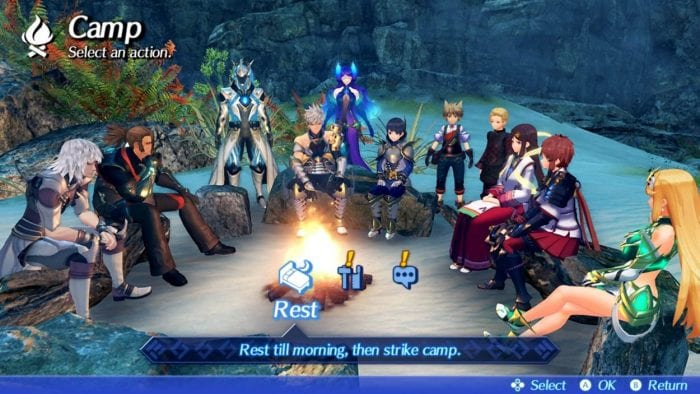 The camping screen in Torna: The Golden Country