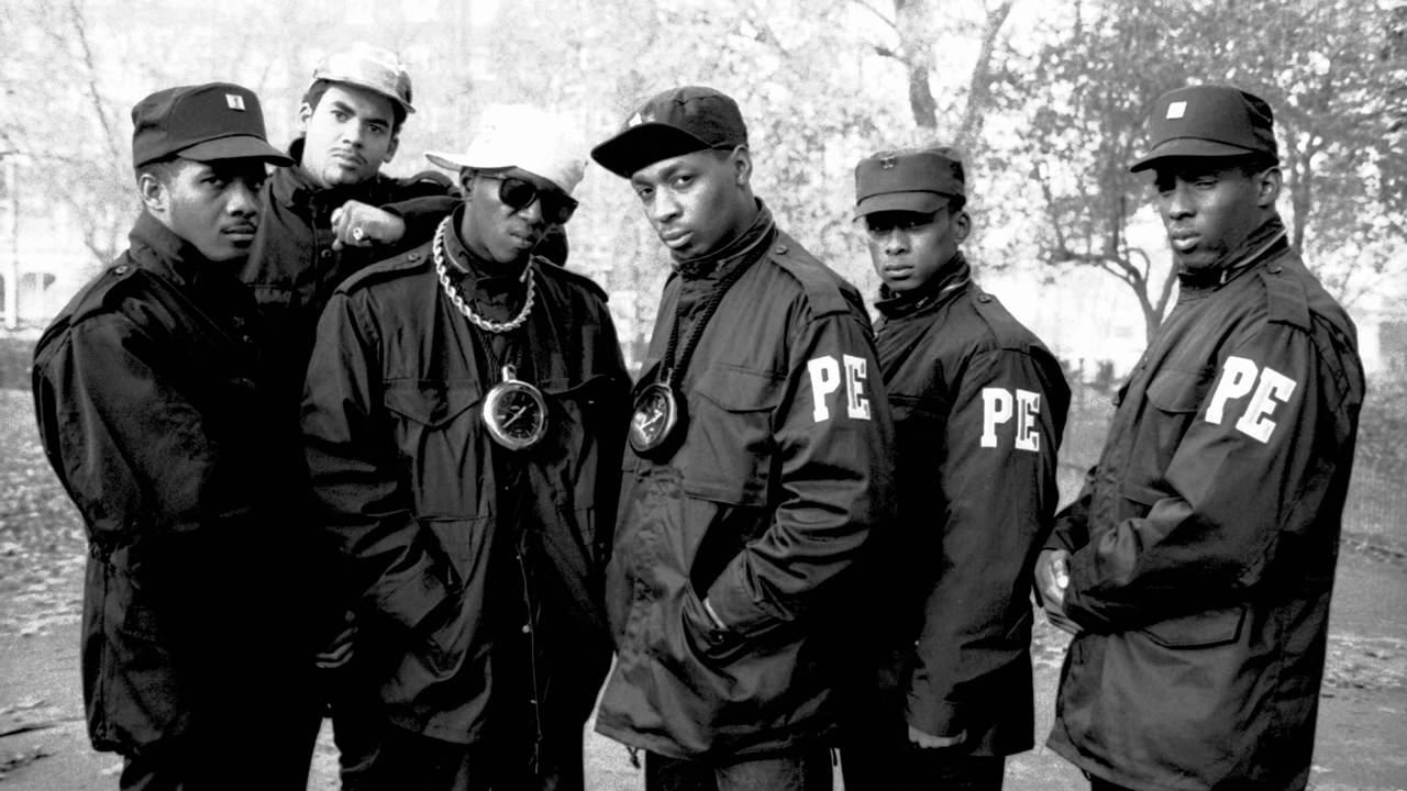 The Public Enemy posse stands supreme
