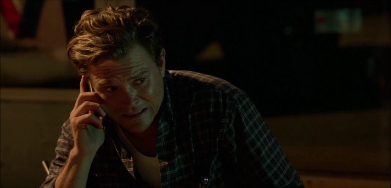 Teddy on the phone in Rectify