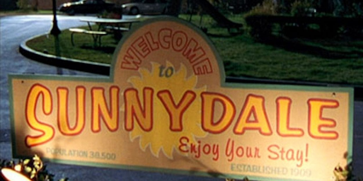 Welcome to Sunnydale sign