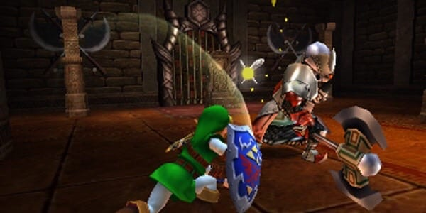 Link in combat with an Iron Knuckle