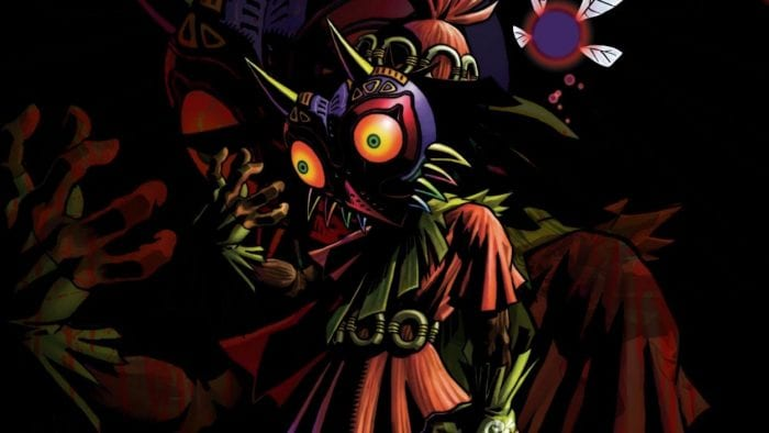 The Skull Kid wearing Majora's Mask
