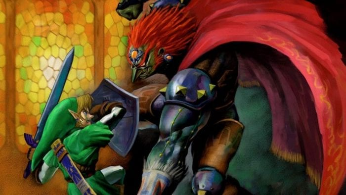 Link and Ganondorf in a tussle
