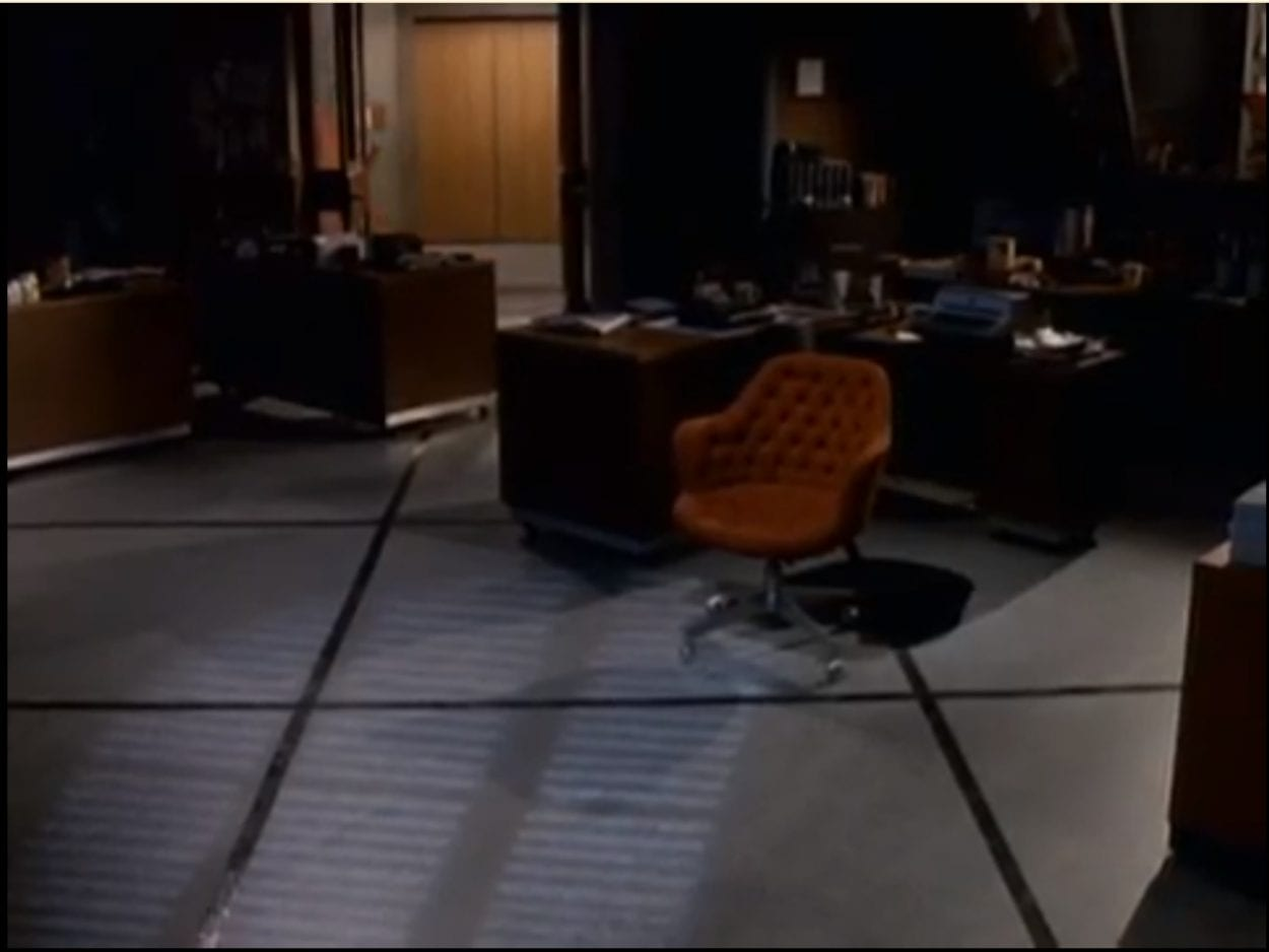 The last shot of where Bill's desk was.