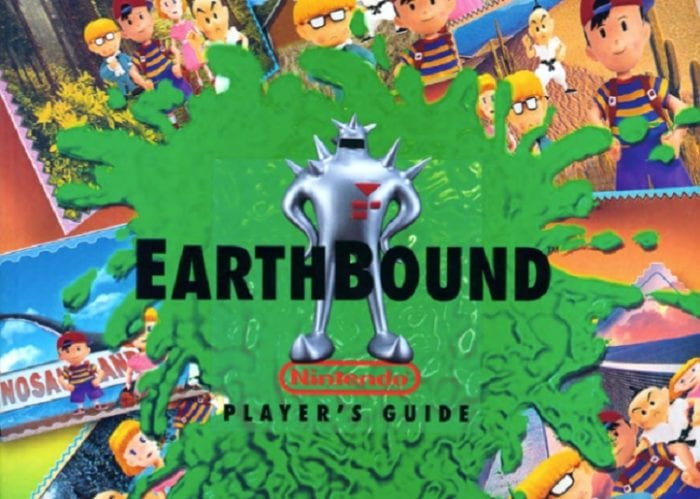 Earthbound Player's Guide featuring the mysterious Star Man on the cover.
