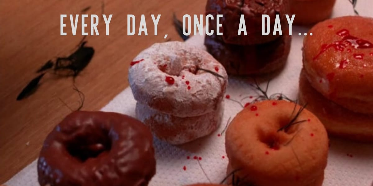 donuts with blood splatters