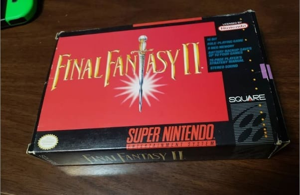 My copy of Final Fantasy II for the SNES