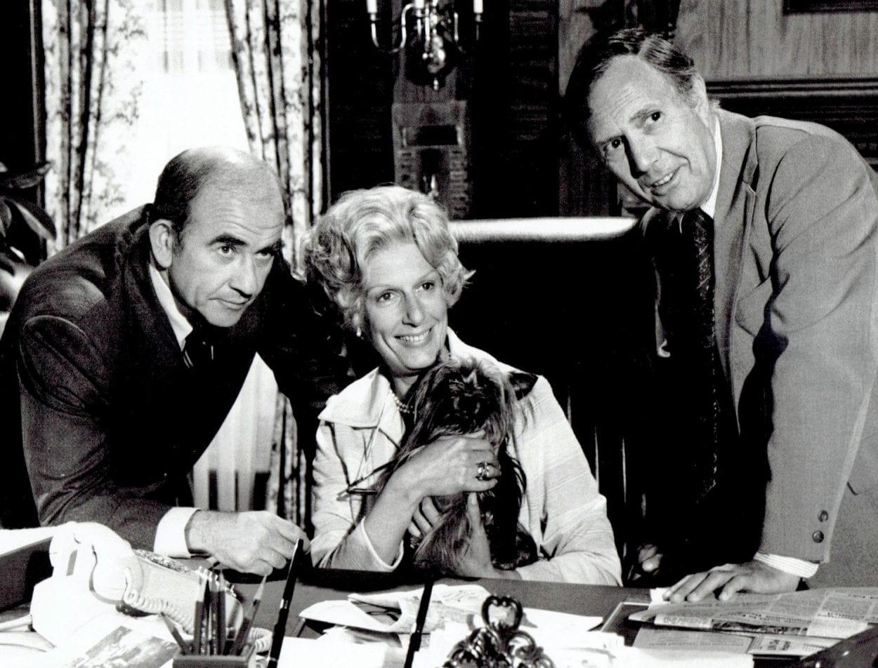Lou Grant, Margaret Pynchon, and Charlie Hume