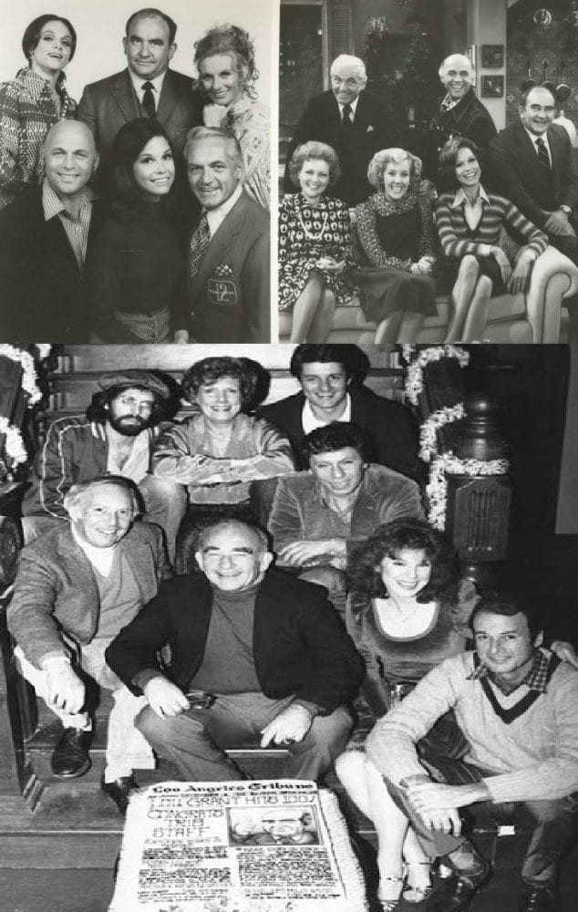 The casts of The Mary Tyler Moore Show and Lou Grant