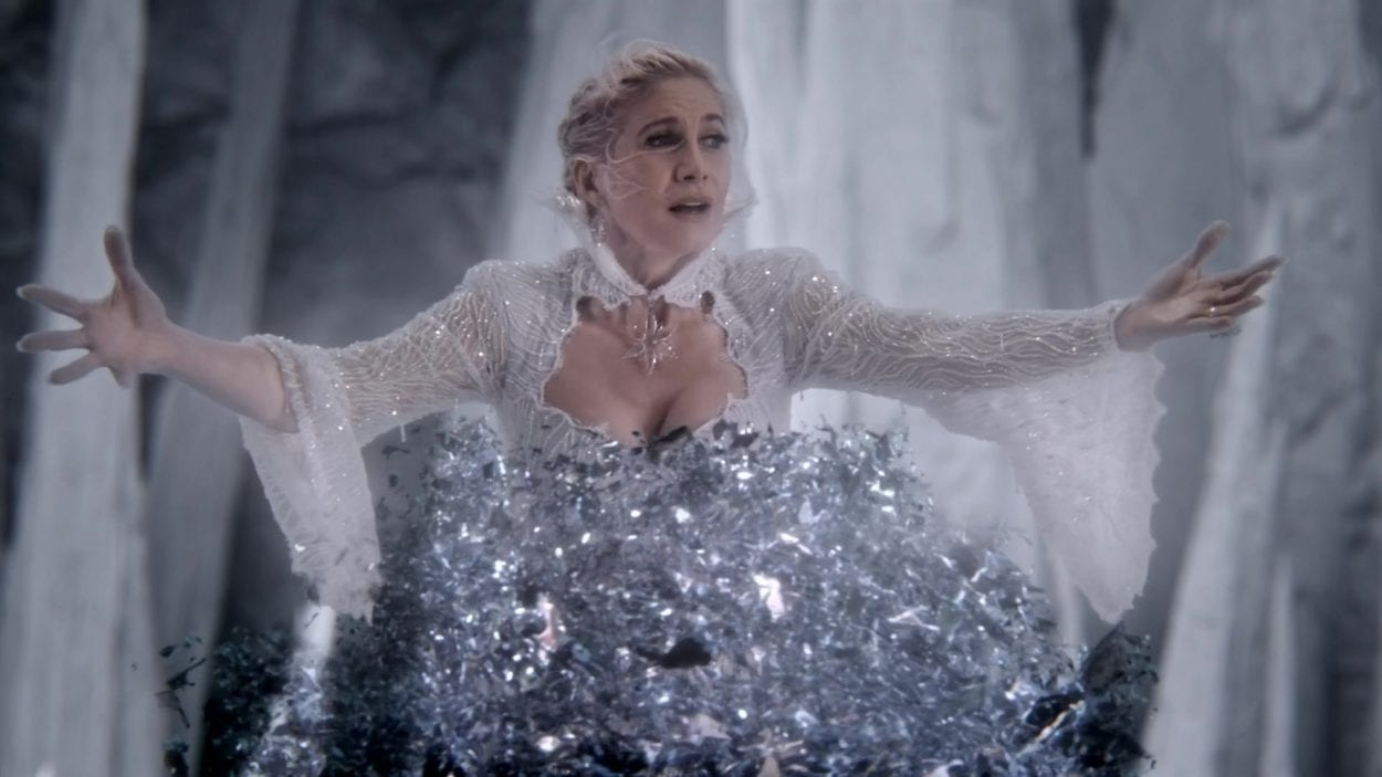 Ingrid (Elizabeth Mitchell) is slowly fading away in a scene from Once Upon A Time