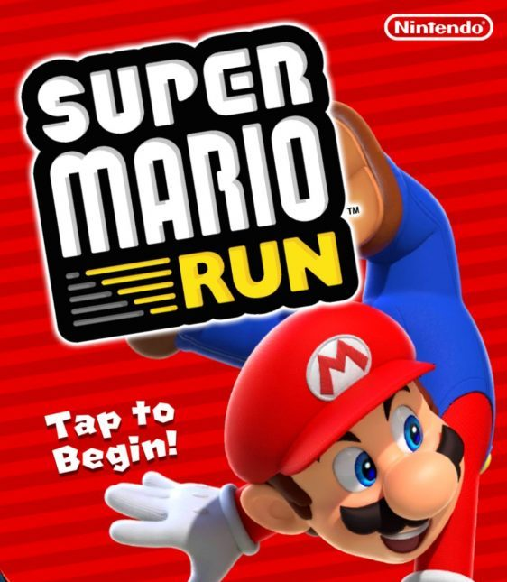 The title screen for Super Mario Run