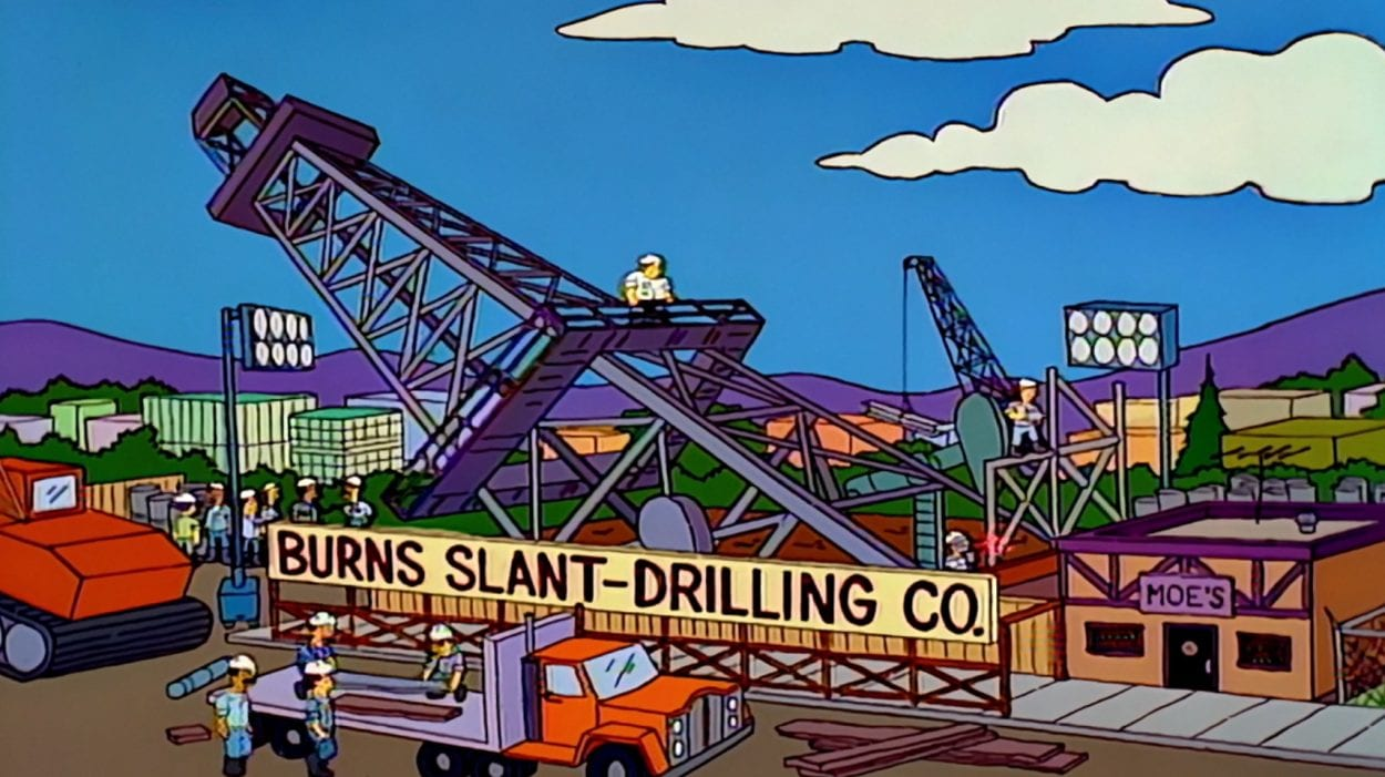 Burns company drilling oil