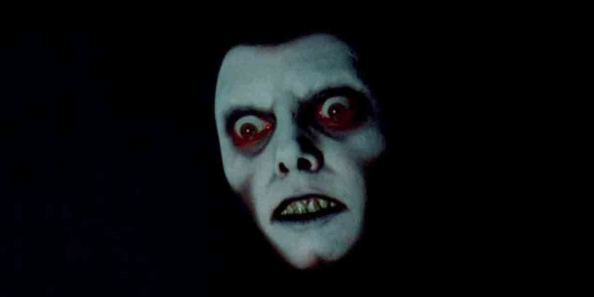 a demon face appears in a dream in the Exorcist