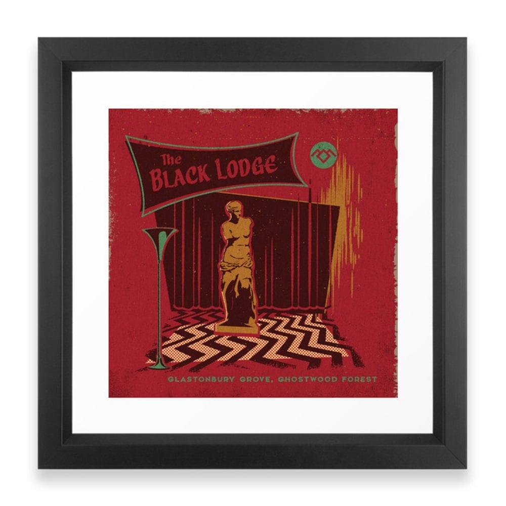 Framed Black Lodge art print