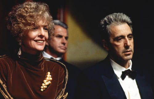 Diane Keaton and Al Pacino in The Godfather Part III