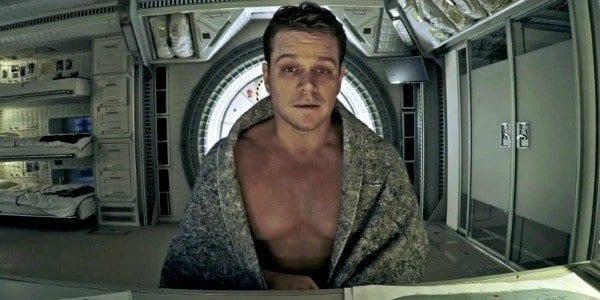 Matt Damon looking unwell in The Martian
