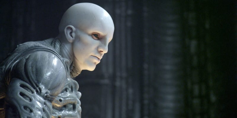 An alien in Prometheus, paled skinned and humanoid