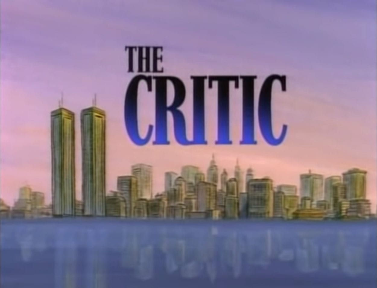 The opening card for The Critic