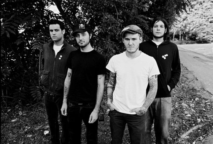 Black and white photo of The Gaslight Anthem