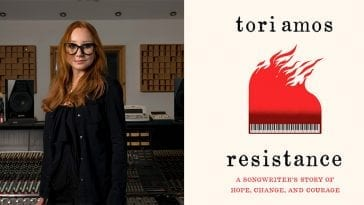 Tori Amos and her book cover for Resistance