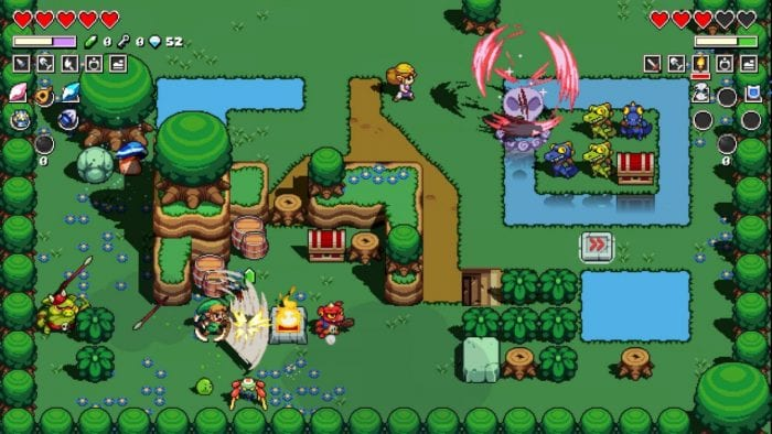 The world of Hyrule, in it's top-down form, are on beautiful display, in this rhythm based game.