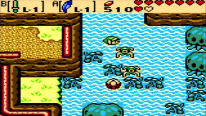 Link swims in Oracle of Seasons