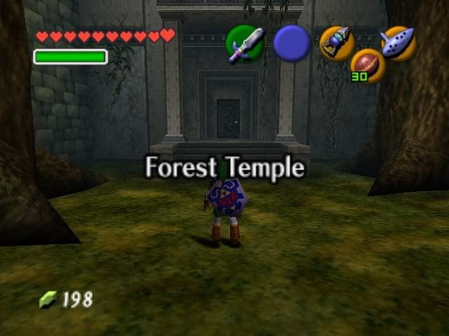 Link in the entrance of the Forest Temple