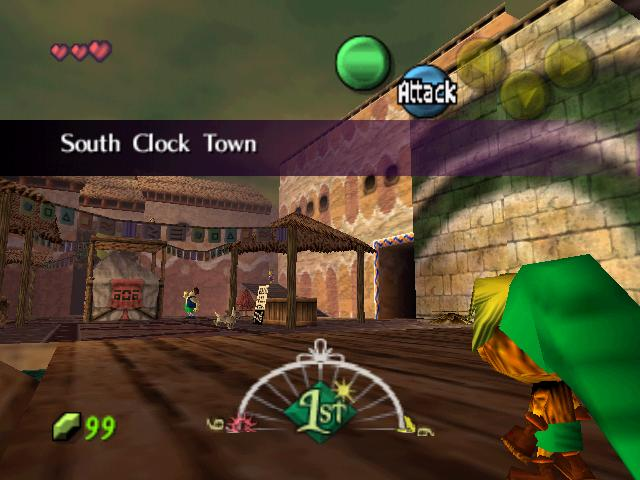 Deku Link walks into South Clock Town