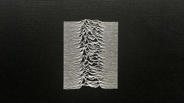 The iconic cover of Unknown Pleasures
