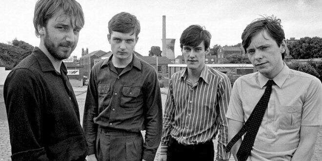 A shot of the band in bleak late '70s Manchester