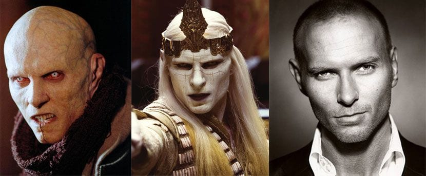 A split screnn phot going from left to right of Jared Nomak, Prince Nuada and the actor Luke Goss who plays them both.