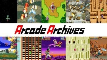 A collage of Arcade Archive titles