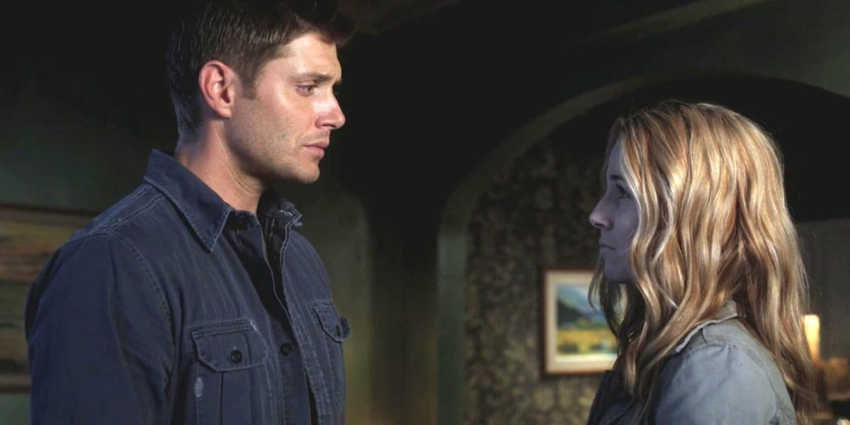 Dean and Jo staring sadly at one another in Supernatural