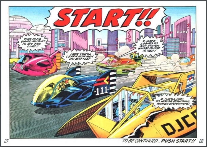 A Comic from F-Zero's Manual.