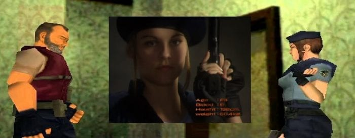Barry and Jill discuss her close call. Insert features live action Jill Valentine.