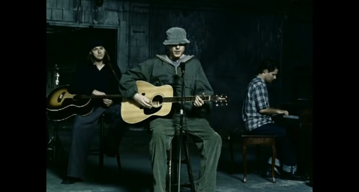 "A still from the downbeat final single from New Radicals ""Someday We'll Know"""