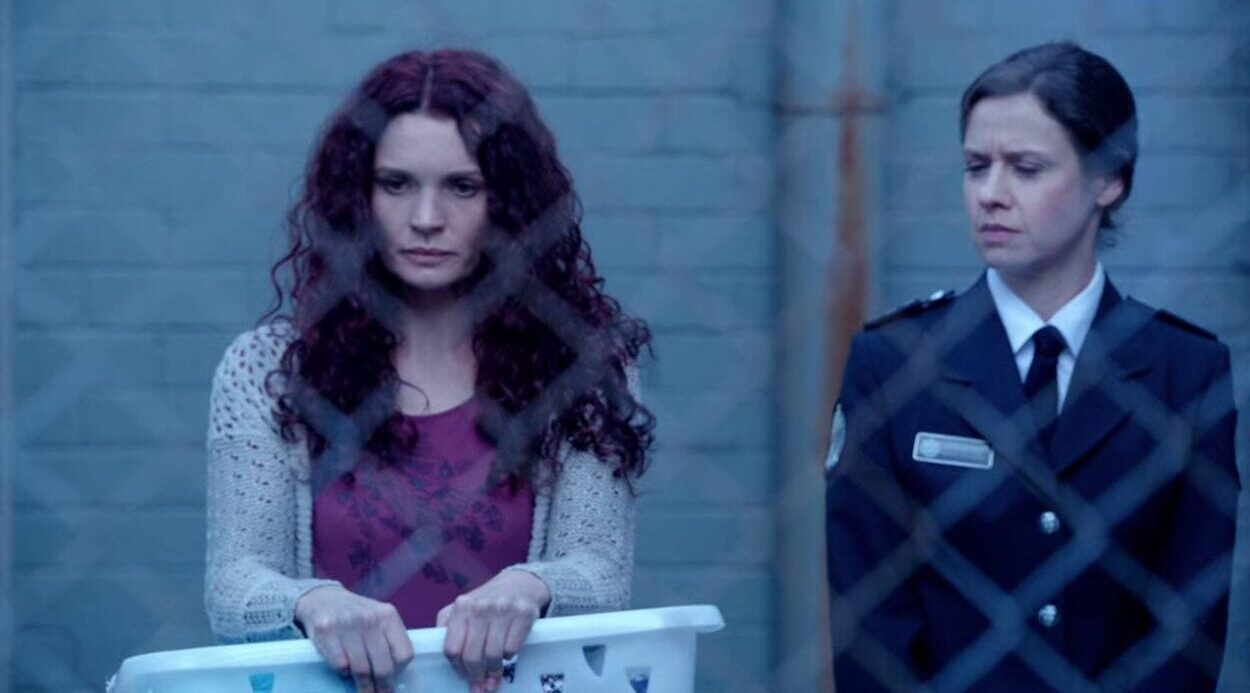 Bea Smith (Danielle Cormack) enters Wentworth Prison for the first time.