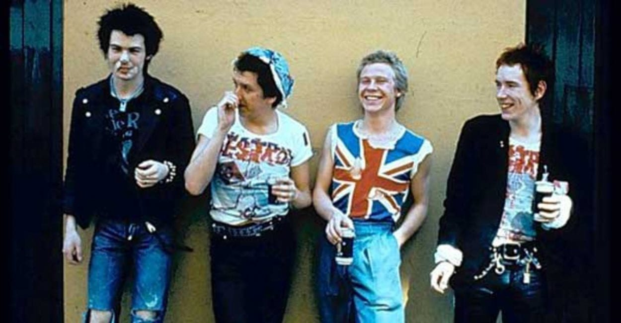 The Sex Pistols pose in their Vivienne Westwood finest