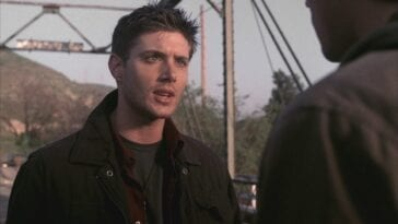 Dean is talking to Sam