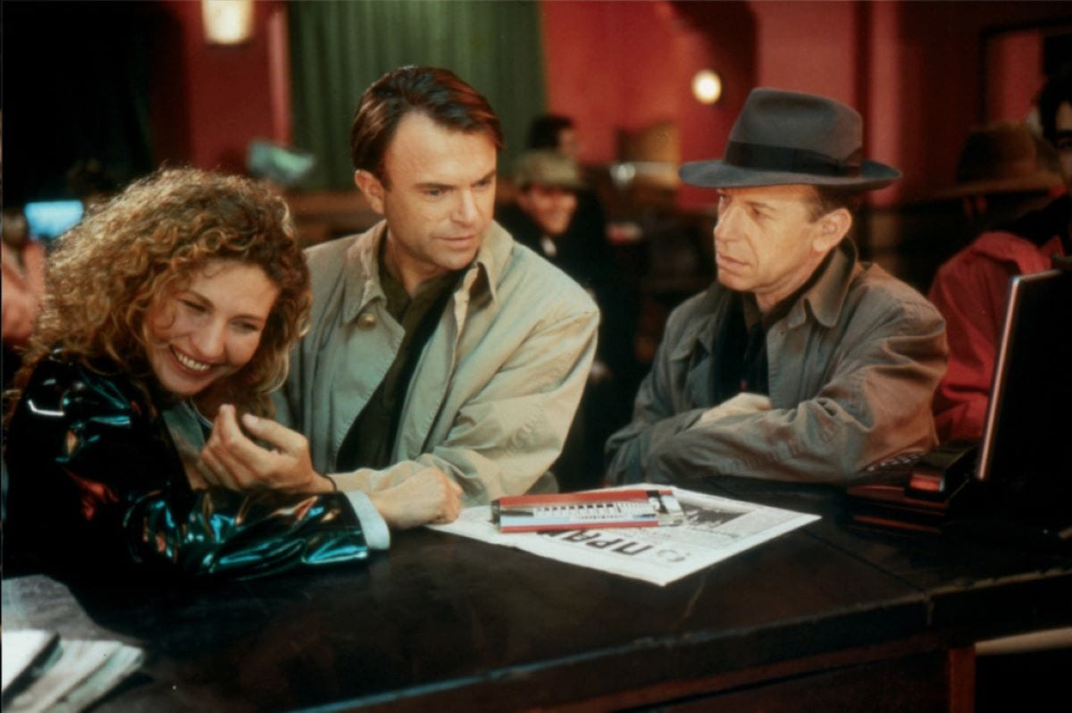 Claire, Eugene and a shady private detective check into a Moscow hotel in Until the End of the World
