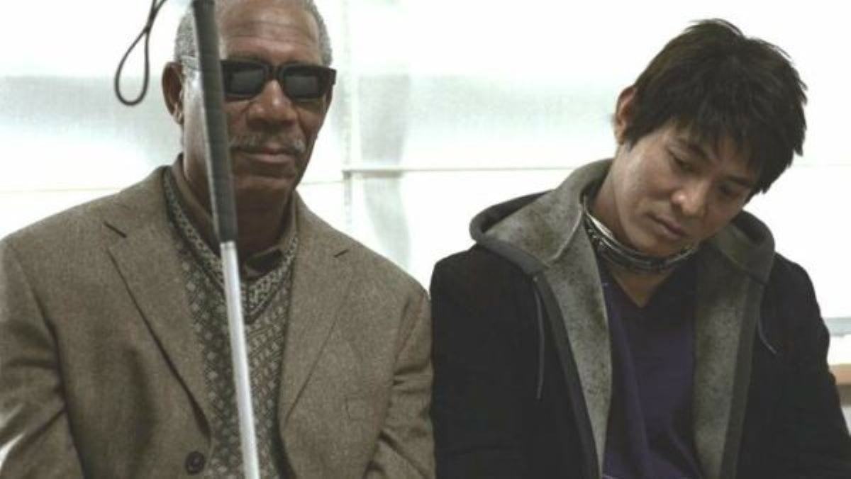 Morgan Freeman and Jet Li wait patiently in Unleashed