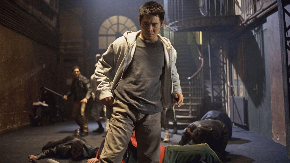 Jet Li as Danny in the midst of battle in Glasgow's underworld