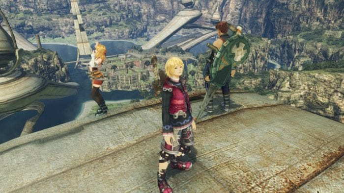 Shulk, Reyn, and Fiora at the drop.