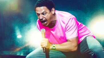 Eric Andre yells into a mic