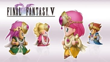 The party of Final Fantasy V in different Job Outfits
