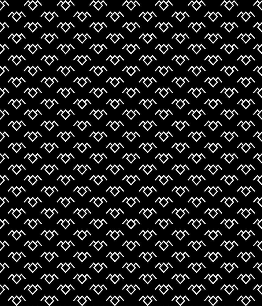 Black blackground with Owl Cave symbol pattern on it
