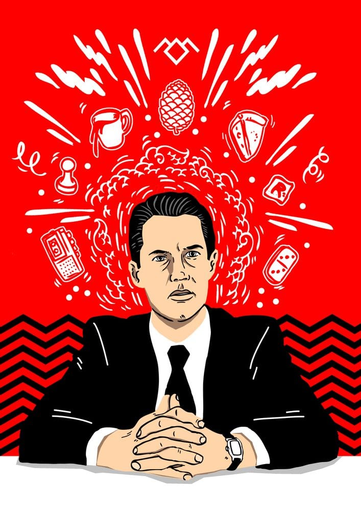 Twin Peaks art by Geo Law depicting Agent Cooper's thoughts
