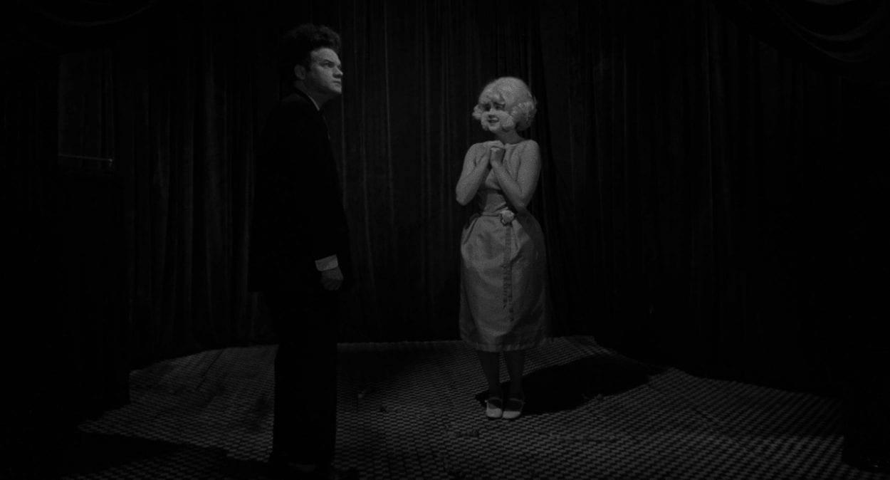 The Lady in The Radiator talks to Henry in Eraserheadtalks to