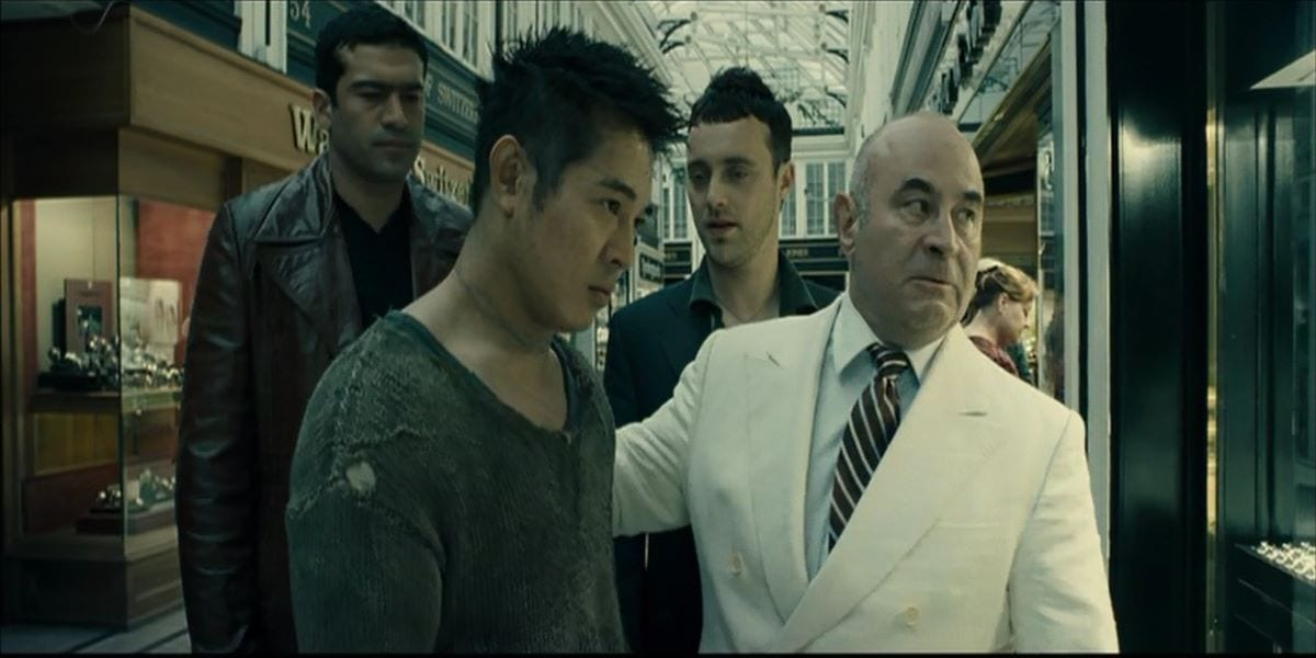 Bob Hoskins and his thugs send Jet Li into battle in Unleashed